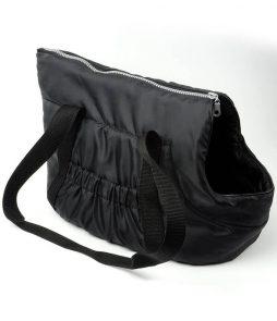 Černá cestovní taška pro sphynx