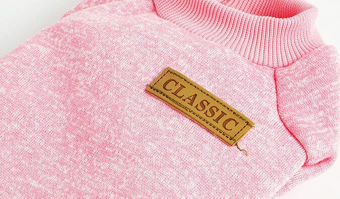 Růžová mikina pro kočku Classic