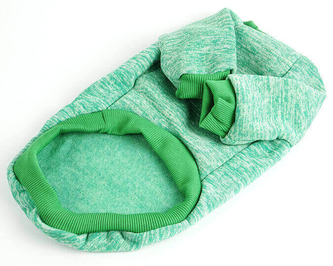 Zelená mikina pro kočku Classic
