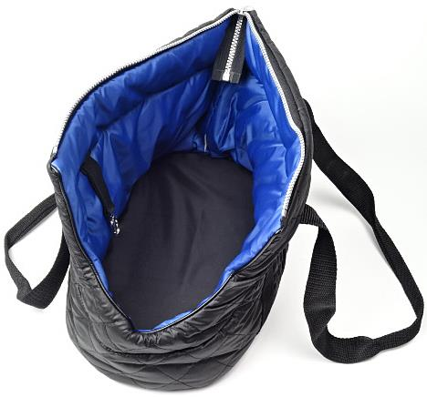 Černo-modrá taška pro sphynx